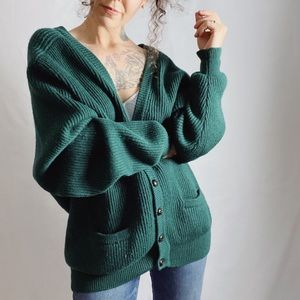 VINTAGE Christopher Hayes Forest Green Cardigan